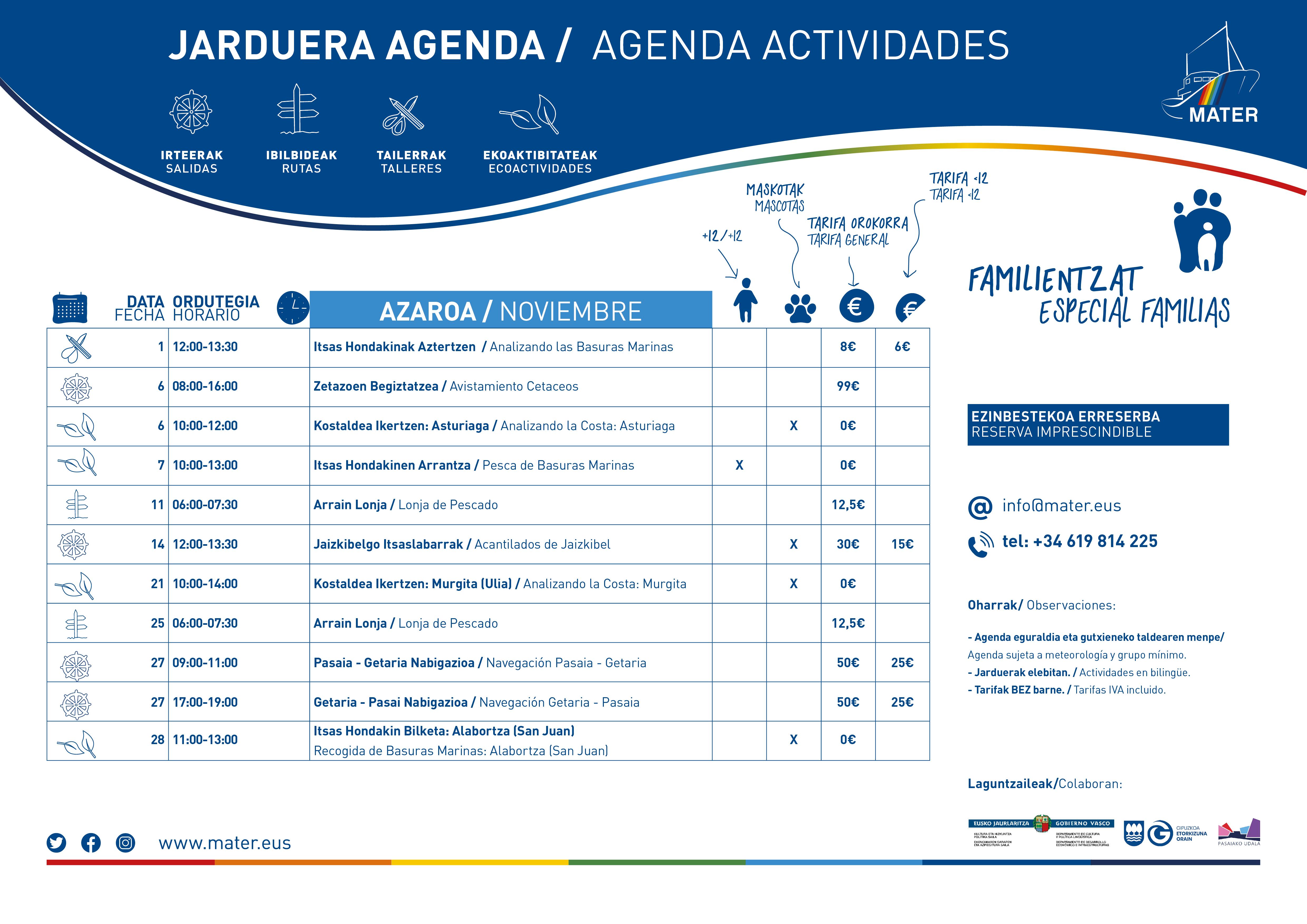 Agenda Azaroa A3 2021