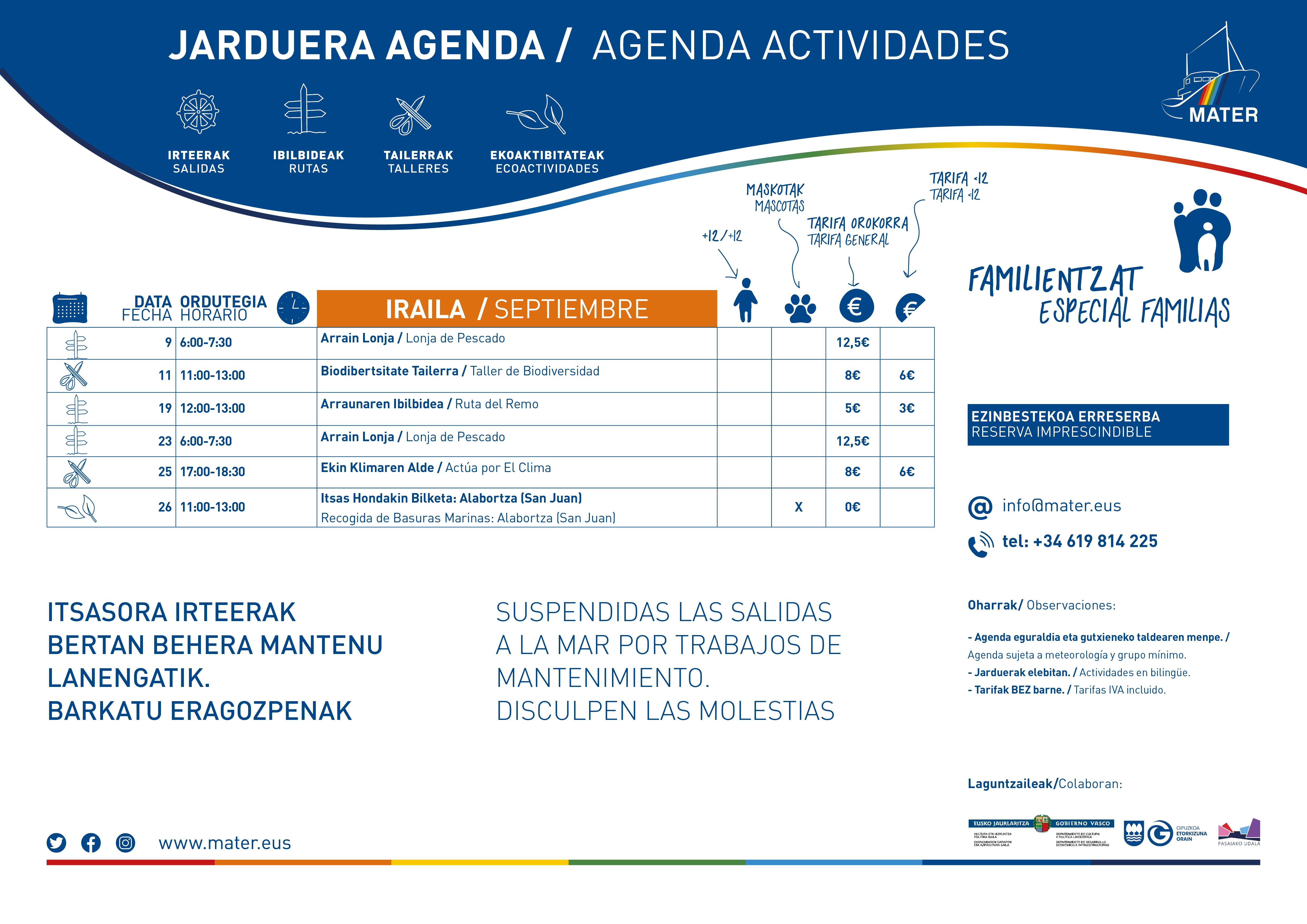 Agenda Iraila A3 2021