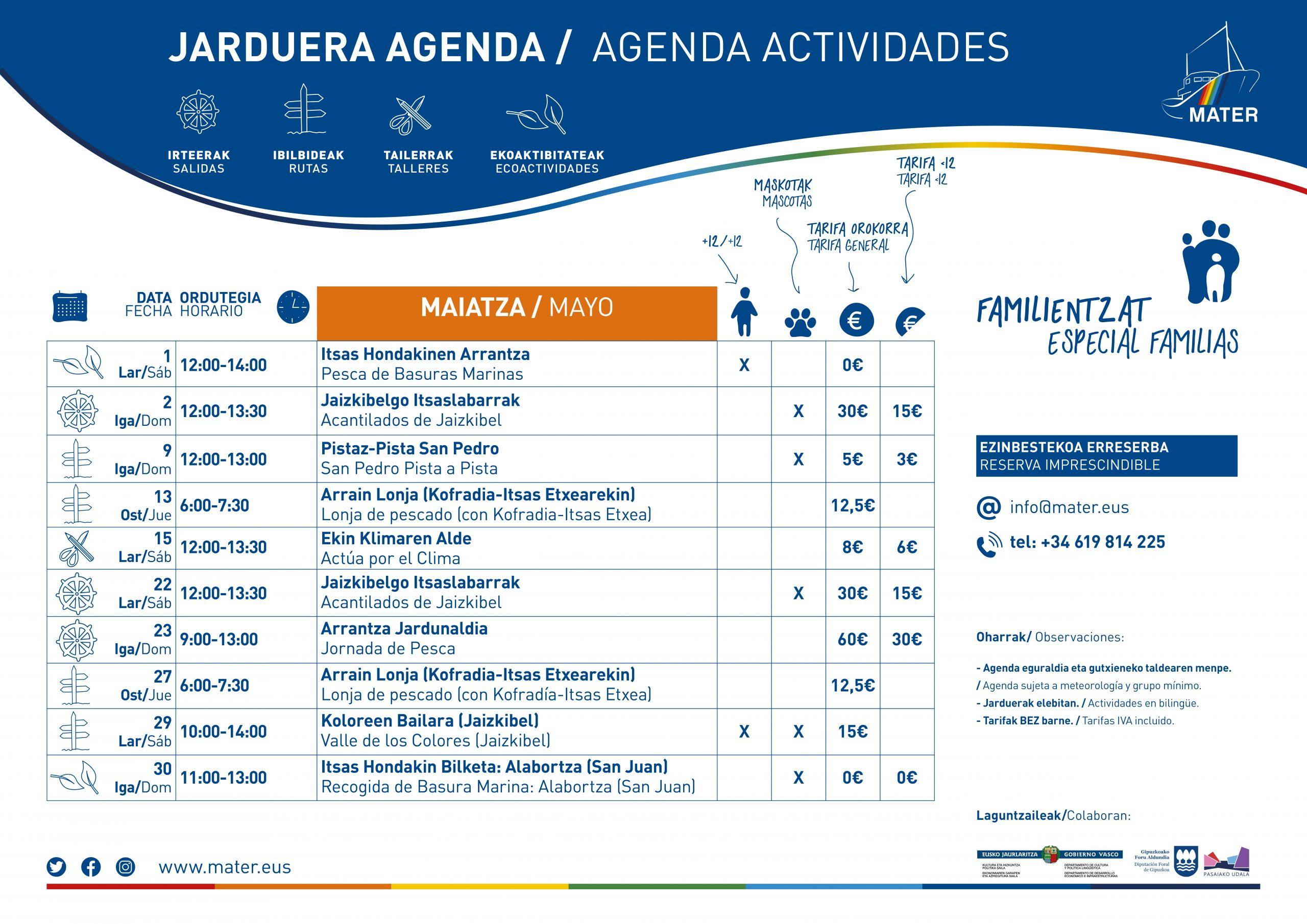 Agenda Maiatza