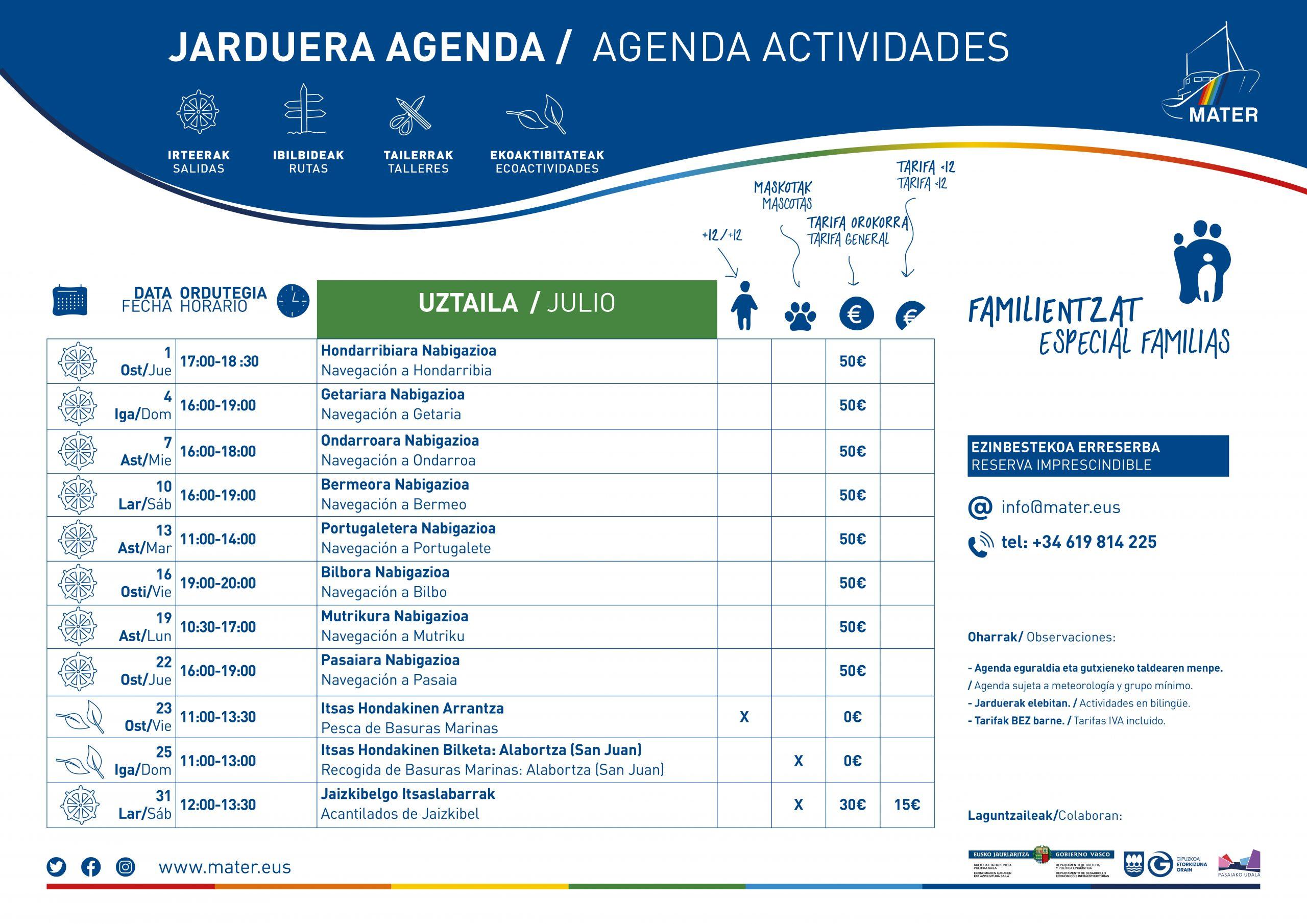 Agenda Uztaila 1